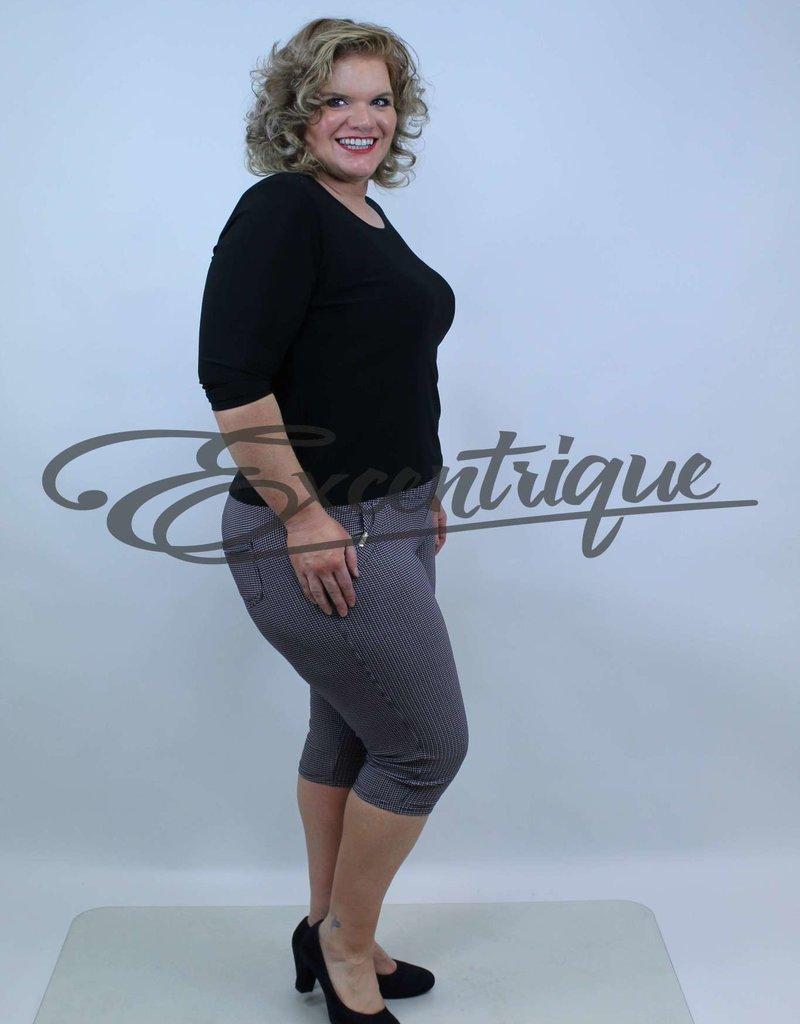 "Senma Fashion SenmaFashion - 3/4 Pantalon ""Katja"" - Wit Zwart Rood :"