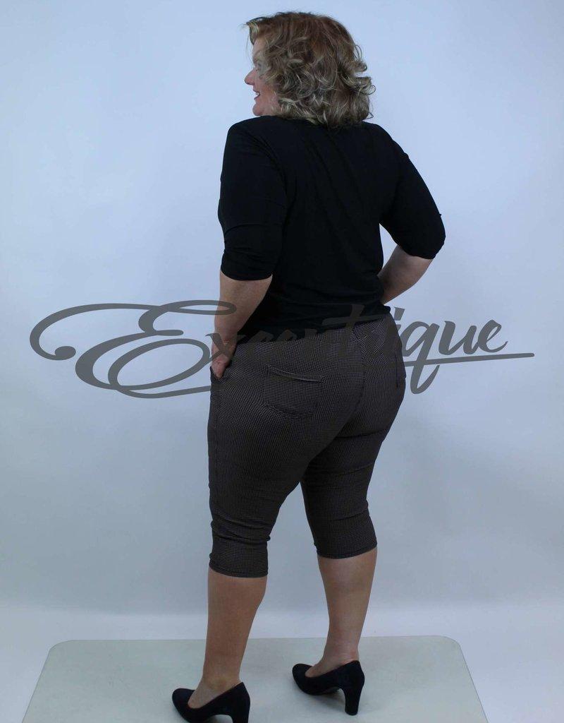 "Senma Fashion SenmaFashion - 3/4 Pantalon ""Katja"" - Beige Zwart Rood :"
