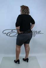 "Senma Fashion SenmaFashion - Short ""Meike"" - Grijs Groen Aubergine :"