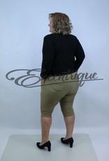 "Senma Fashion SenmaFashion - 3/4 Pantalon ""Liese"" - Beige Kaki Wit Stip :"