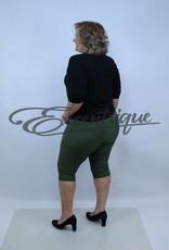 """Senma Fashion SenmaFashion - 3/4 Pantalon """"Liese"""" - Groen LiGroen Wit Stip :"""
