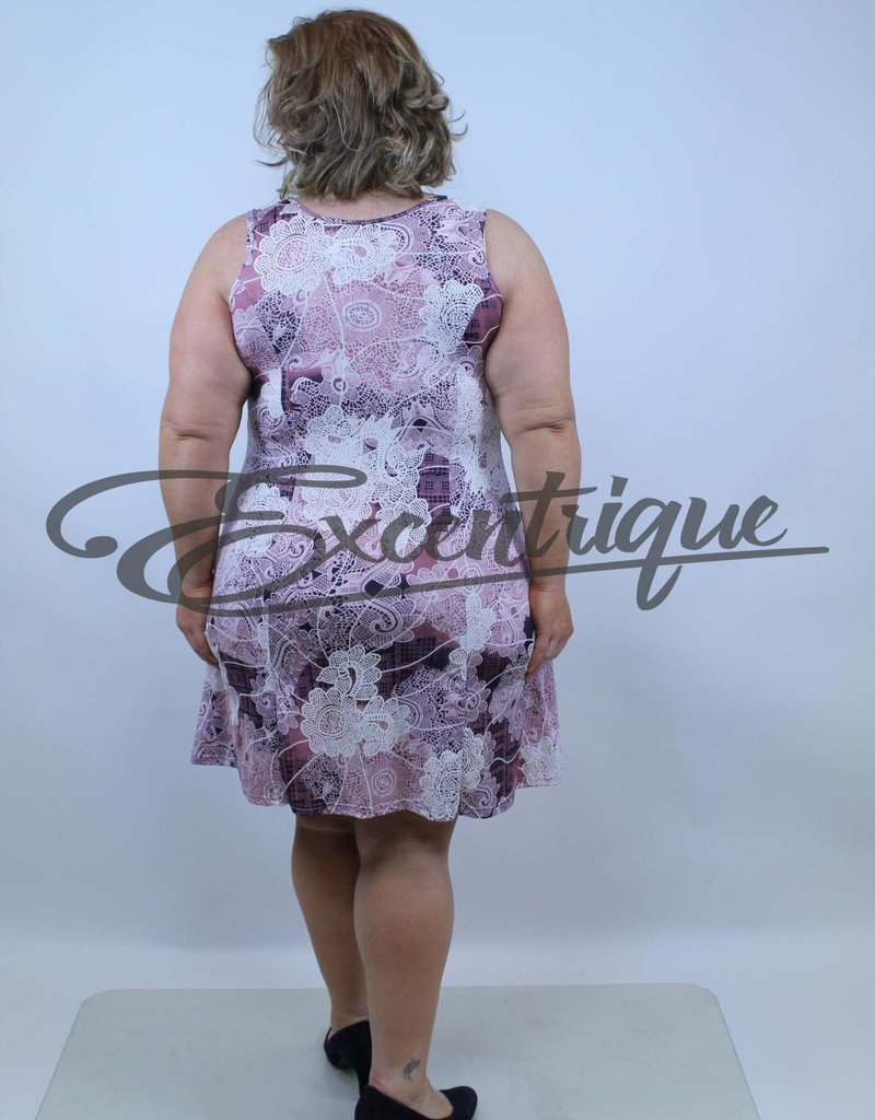 """ByExcentrique - Jurk """"2403"""" - Lila Print :"""