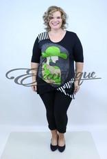 """NewJersey - Shirt """"Hailey"""" - Zwart Wit Groen Hoedendame :"""