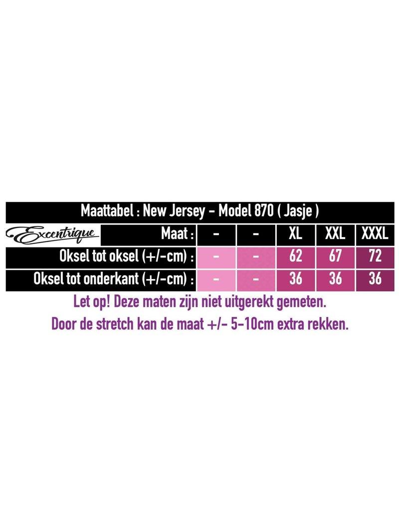 New Jersey - Twinset Mouwloze Jurk & Vest  870 - Oker Zwart :