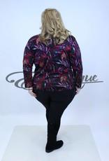 """NewJersey - Shirt """"Donna"""" - Zwart Rose Blad :"""