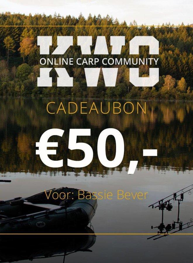 KWO Cadeaubon - € 50,00