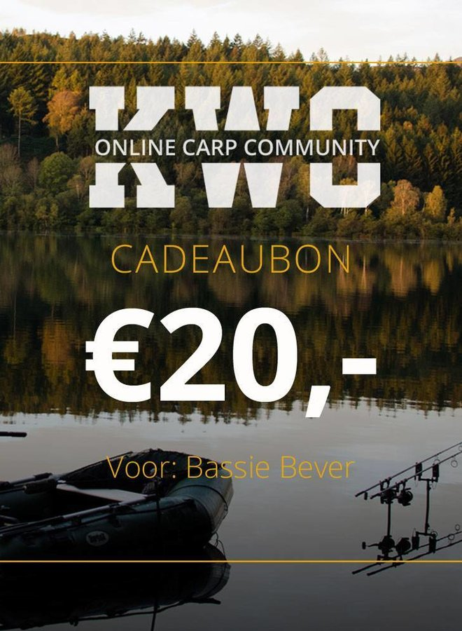 KWO Cadeaubon - € 20,00