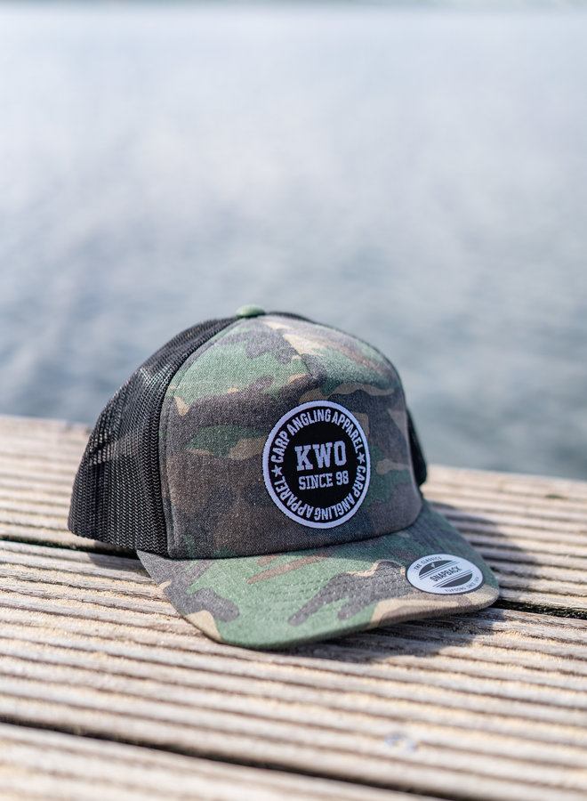 KWO Trucker Cap - Washed Camou