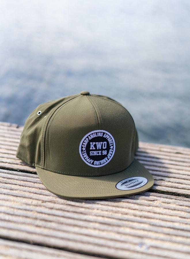 KWO Snapback - Water Resistant Army Green