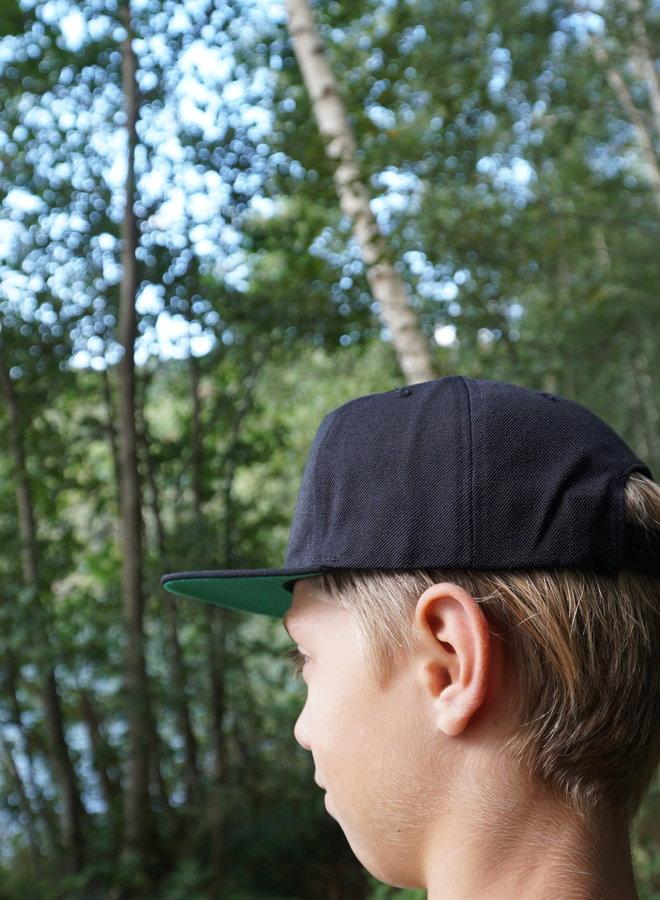KWO Kinder Snapback - Zwart