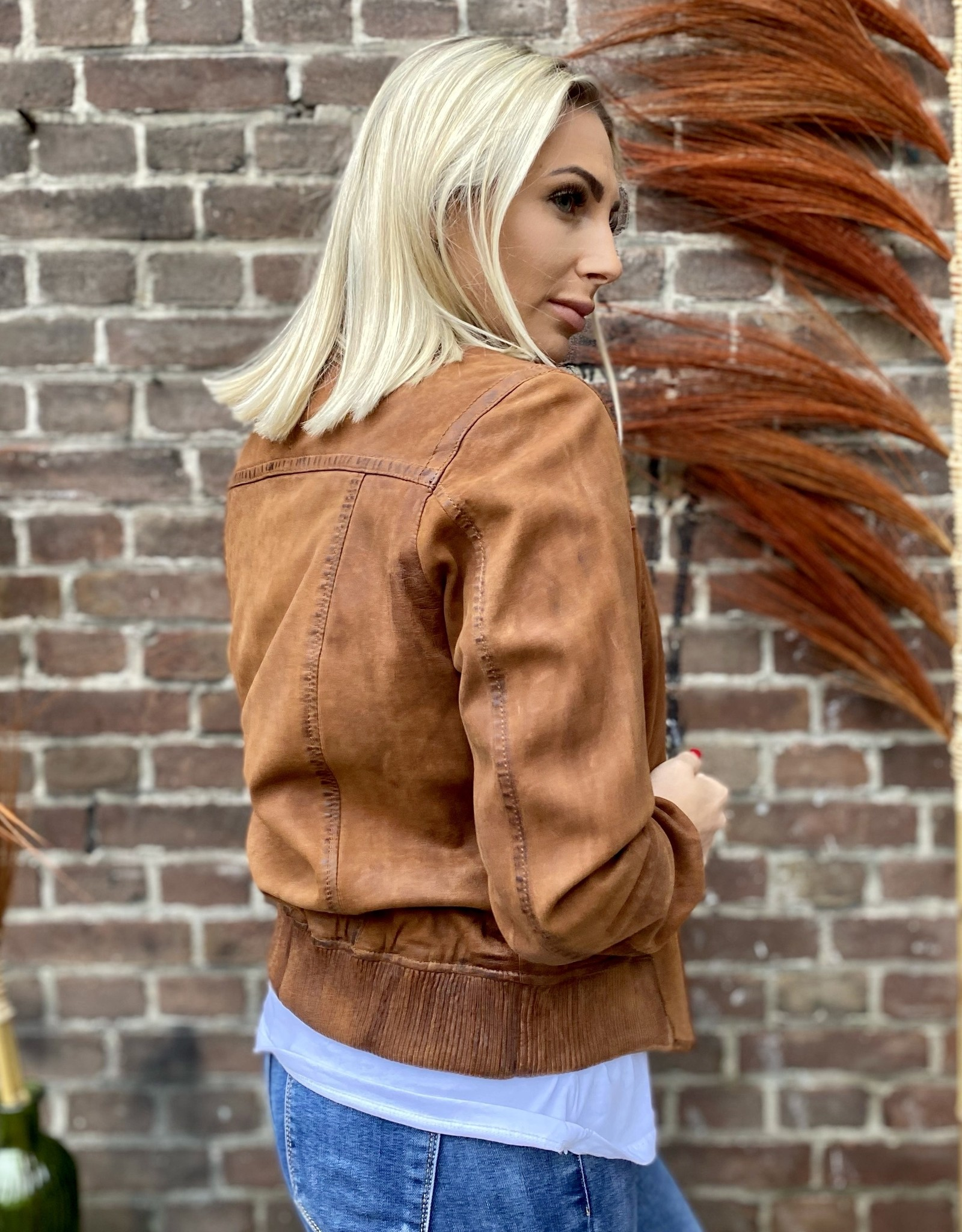 Leather Jacket Camel Brown