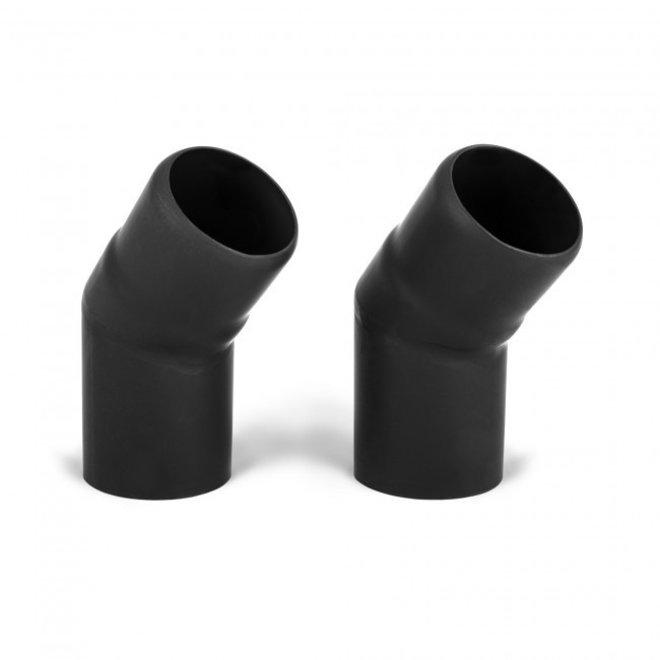 Schoorsteen 45 graden bocht 60mm (2 maal)
