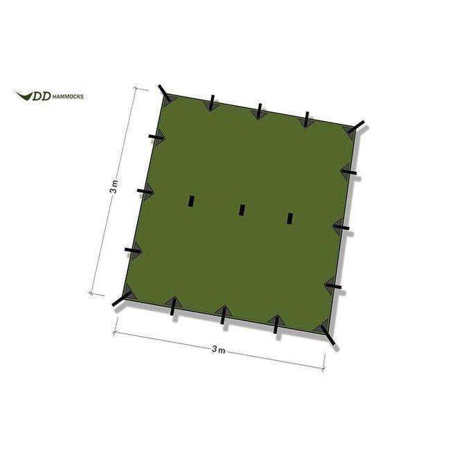 Tarp 3,5x3,5 Olive Green