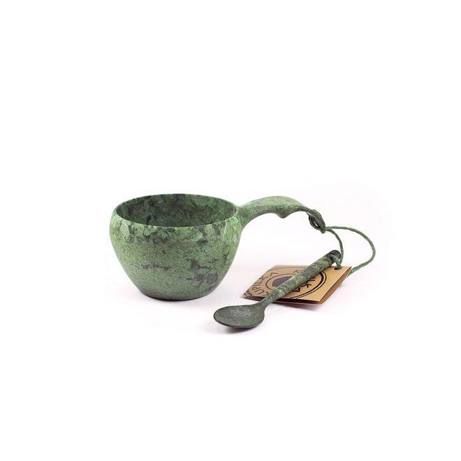 21 Classic Mok met lepel-Conifer (groen)