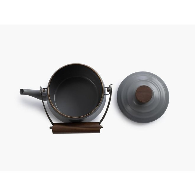 Emaille Teapot / Theepot - Stone Grey
