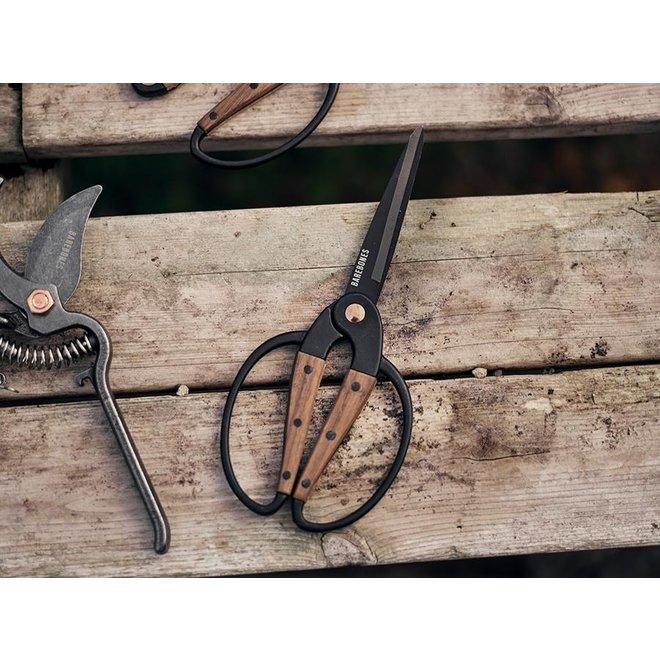 Scissors Large / Tuinschaar Groot - Walnut