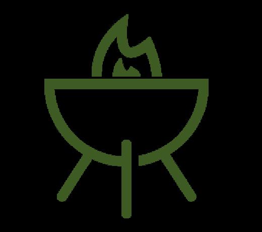 Koken bij het kampvuur is de meest avontuurlijke wijze om buiten te koken.