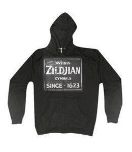 Zildjian T4643 Zip hoodie, Quincy Vintage Sign, L, black