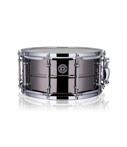 "Drum Gear snaredrum black brass 14 x 6.5"" DGS-B1465 shop demo"