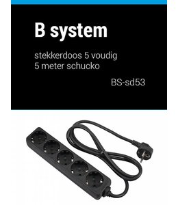 B System 3m Steckdose 5 fach Netzteil 3 Meter BS-SD53
