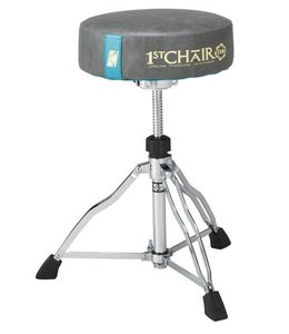Tama HT430E10GR drumkruk 1st Chair Round Rider Trio Drum Stool with Flat Top Limited Edition Gray shopmodel
