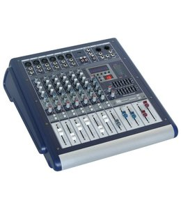 PD Power Dynamics PDM-S602A 6-Kanaals mixer met versterker DSP/MP3