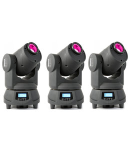 Beamz Professional Panther 50 Led Spot Moving Head demo model 3 stuks setprijs