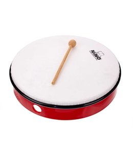 "Meinl NINO hand drum NINO5R abs hand drum 10 ""red incl. Wand"