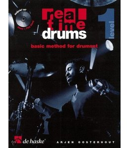 de Haske Real Time Drums teaching method Part 1 incl. CD