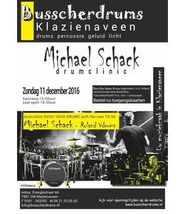 Busscherdrums EntrittsKarte Drum Clinic Michael Schack Sonntag, 11. Dezember 2016