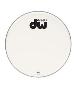 """DW DW bass drum front head smooth white double-ply 23 """"DRDHAW23K"""