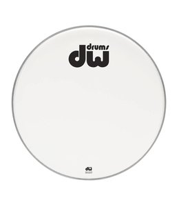 "DW DW bassdrum fronthead dubbellaags coated white 23"" DRDHACW23K"