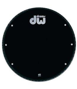 "DW drumworkshop DW bassdrum fronthead Ebony black 23"" GB-23K with holes"
