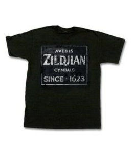 Zildjian T-shirt, Quincy Vintage Sign, L, black