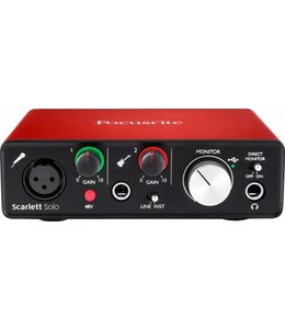 Focusrite RFO Scarlett Solo 2nd Gen USB Audio Interface