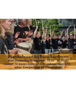 Henk Busscher Djembe les kinderen jongeren Beginners 10 lessen cursus