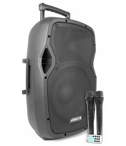 "VONYX AP1200PA Mobiele Speaker met Accu 12"" Bluetooth/USB/SD/Mp3/VHF 170.334"
