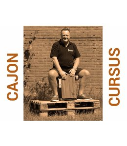 Busscherdrums Cajon Flexible Course starts every Monday at 7:30 pm, 6 flexible course cards