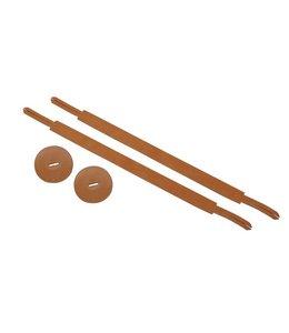 B System HB3 cymbals a deux bekken riem, cymbal straps pair 20mm
