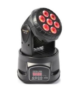 Beamz MHL74 Mini Moving Head Wash 7x 10 watt
