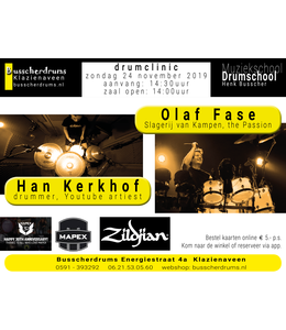 Busscherdrums Drumclinic Olaf Fase & Han Kerkhof