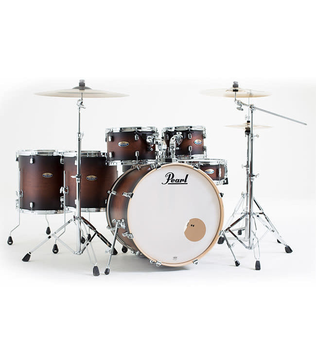 Pearl DMP926S/C260 Decade maple satin brown burst drumstel 6dlg