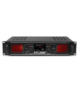 Skytec SPL 2000BTMP3 versterker rode led + EQ zwart
