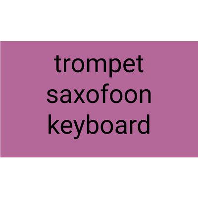 Trompet Saxofoon Keyboard