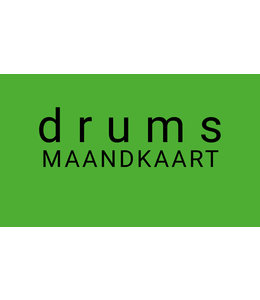 Henk Busscher Drumlessen maandkaart 30 minuten wekelijks kids & jongeren MK30drs