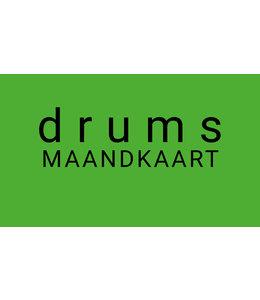 Henk Busscher Drumlessen maandkaart 20 minuten wekelijks kids & jongeren MK20drs