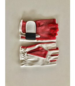 Rockbag RB22950R Medium Red Handschoenen gloves fingerless half fingers