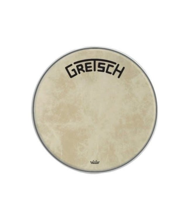 REMO Copy of bassdrum vel Gretsch Logo coated wit
