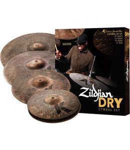 Zildjian ZIKCSP4681 Cymbal set, K Custom, Special Dry Cymbal Pack, 14H 16Cr 18Cr 21R