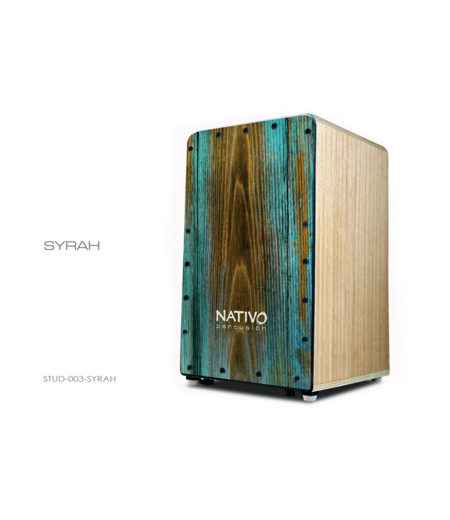 Nativo Percussion Cajon Studio Syrah